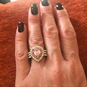 Silver tone fashion ring